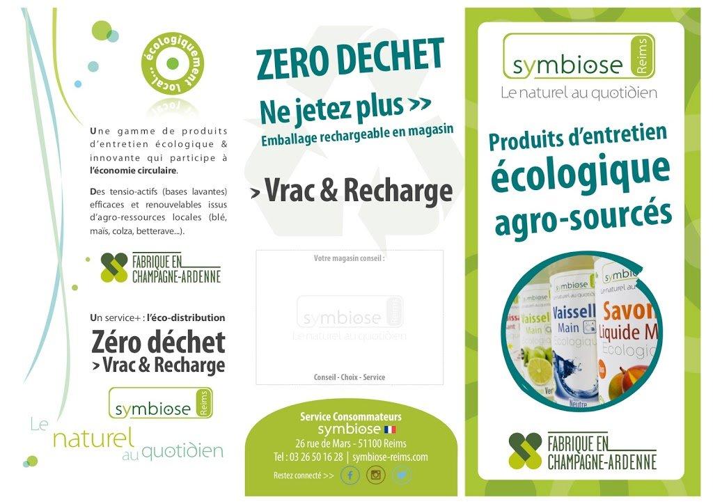 Nouvelle Brochure 2018 Produits d'entretien Ecologique Symbiose Vrac & Recharge