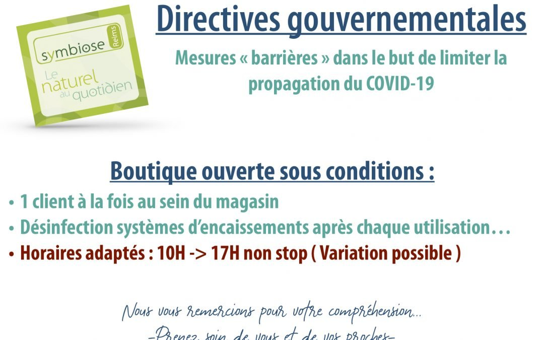 Boutique Ouverte Sous Conditions… Mesures COVID-19 Reims