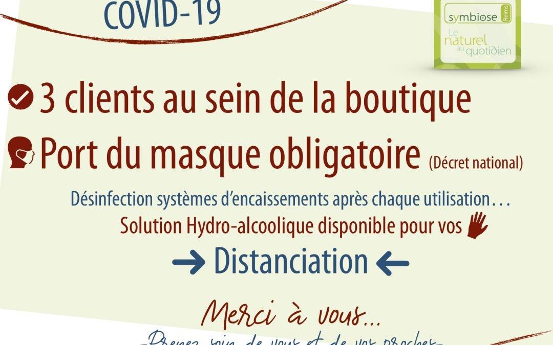 COVID-19 : Bonne pratique dans la boutique